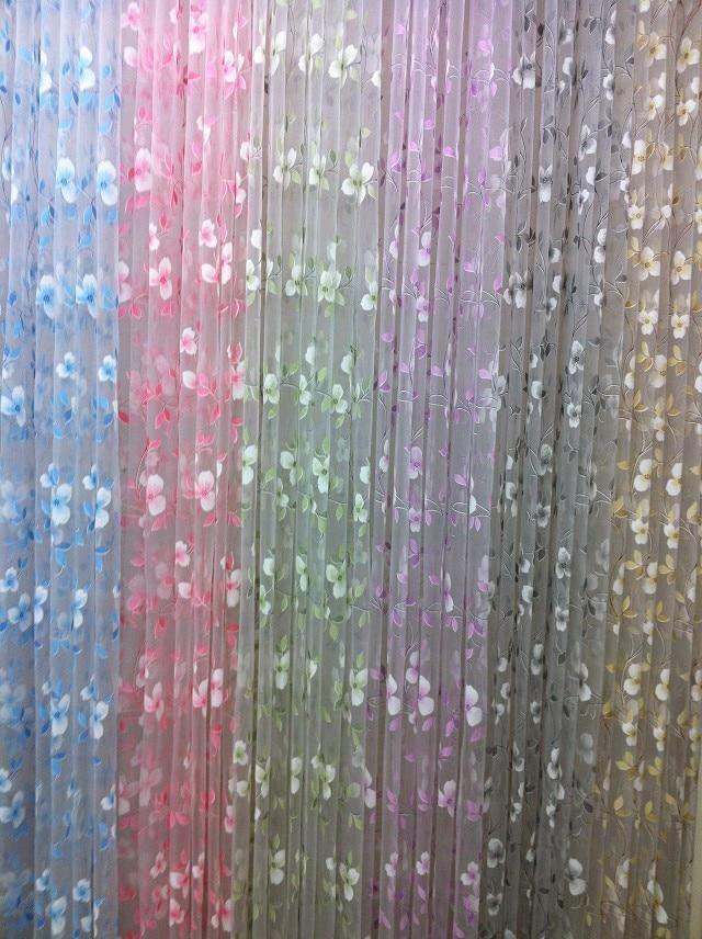 CS 88 1 Panel bordado Púrpura pequeño globo de Rosa cortina tela sábana fabroc Sheer 63 cm 82 cm Ancho ajustable altura