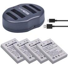 4 pçs EN-EL5 enel5 câmera bateria + carregador usb duplo para nikon coolpix p530 p520 p510 p100 p500 p5000 p5100 p6000 3700 4200