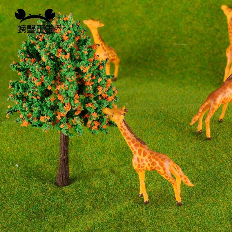 5pcs Modelo Ferroviário Escala HO pintado Farm Animals giraffe 1 87 escala modelo animais kit de construção