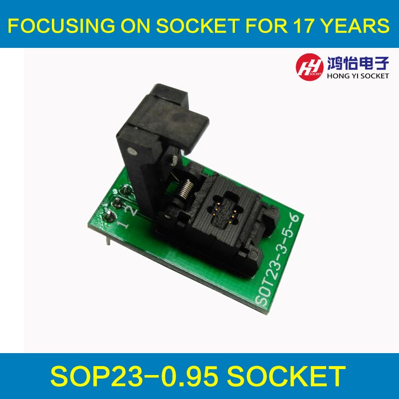 SOT23-6-0.95 de la cubierta de la sonda pin POGO Socket de prueba SOT23-6-0.95-CP01PNL programación hembra paso tamaño de Chip 0,95*1,6*3mm