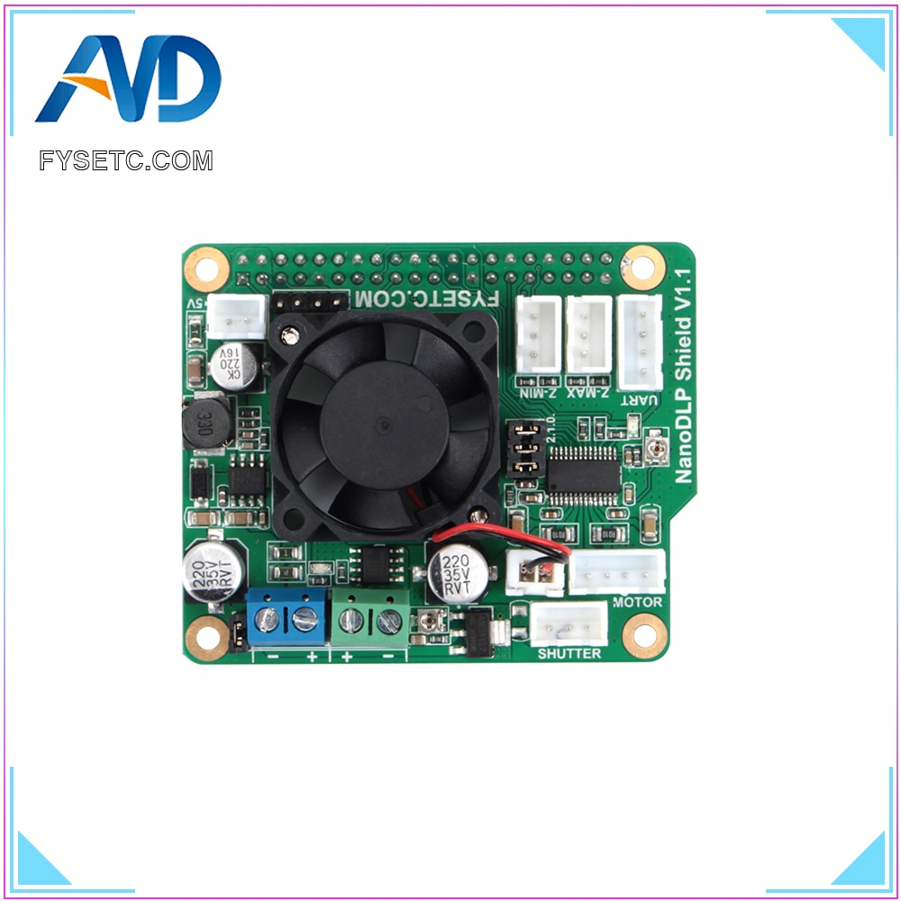 NanoDLP щит V1.1 плата расширения с DRV8825 контролируется MOS для Raspberry Pi 3B и NanoDLP свет-отверждения 3D принтеров