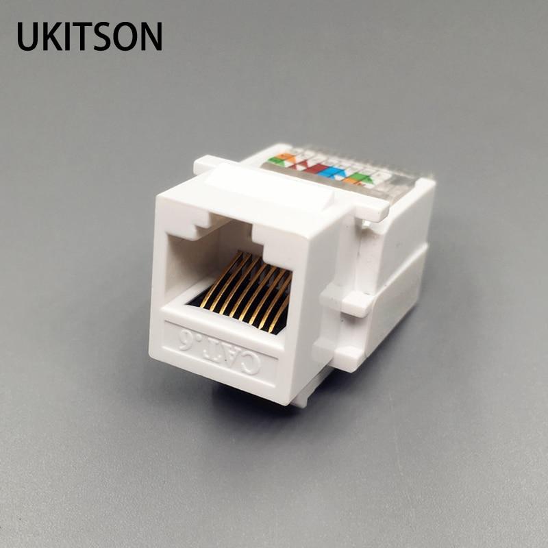 CAT6 RJ45 inserte Keystone LAN Gigabit acoplador enchufe estándar T568A/B Módulo de red ranura para Internet red Ethernet C