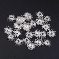 100pcslot sunflower bead caps jewelry findings component hollow torus beaded flower hat necklace diy jewelry accessories