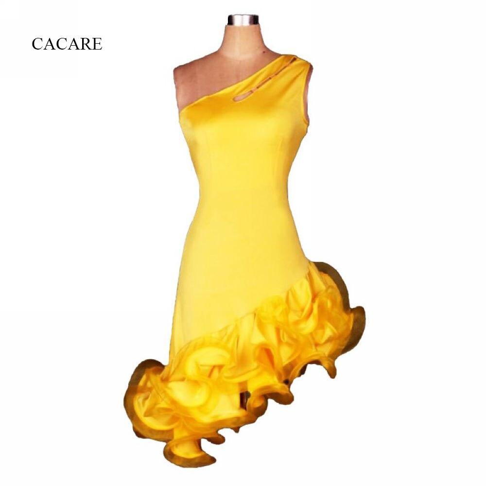 Vestido de baile latino para mujeres y niñas, promoción, vestido con flecos, vestidos de competición de baile latino Salsa Tango D0425, dobladillo esponjoso de un hombro