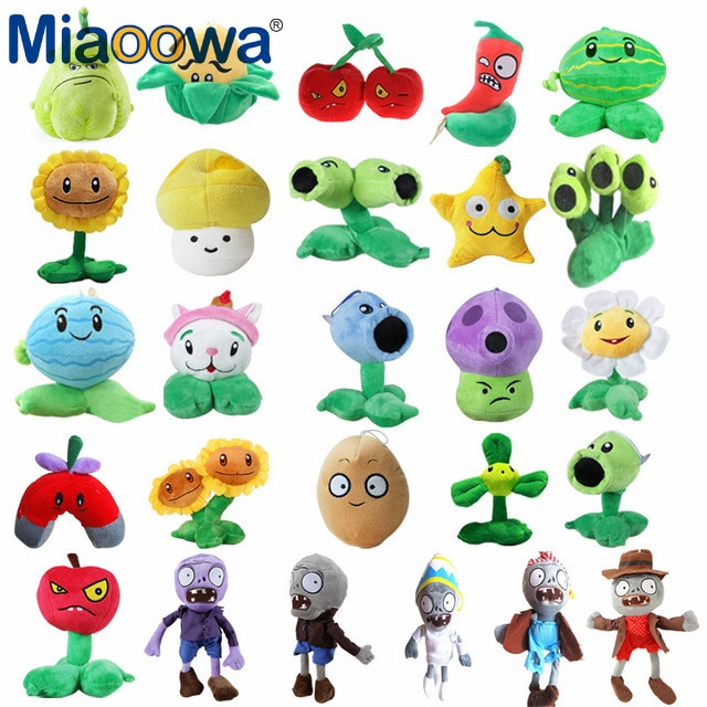 Popular Game Simulation Plants vs Zombies Plush Toys PVZ Soft Stuffed Plush Toys Doll Baby Toy for Kids Gifts
