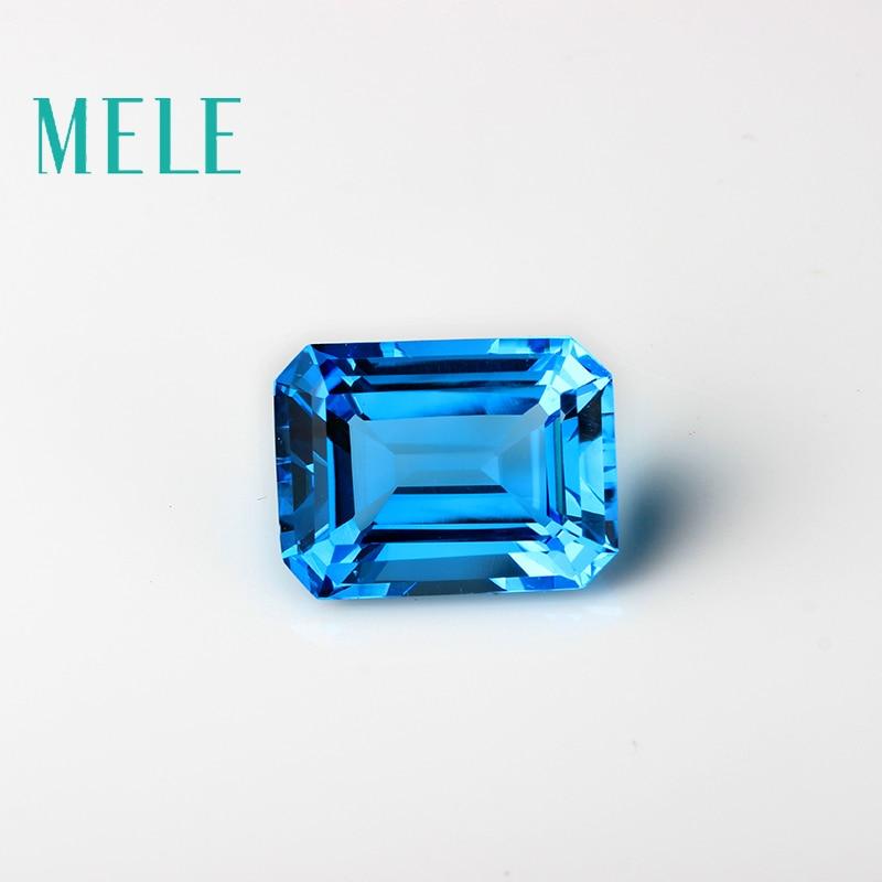 الطبيعية الأزرق العميق توباز في 15mmX20mm 30ct ساحة قص لصنع المجوهرات ، عالية الجودة مصمم لتقوم بها بنفسك أحجار كريمة مفكوكة