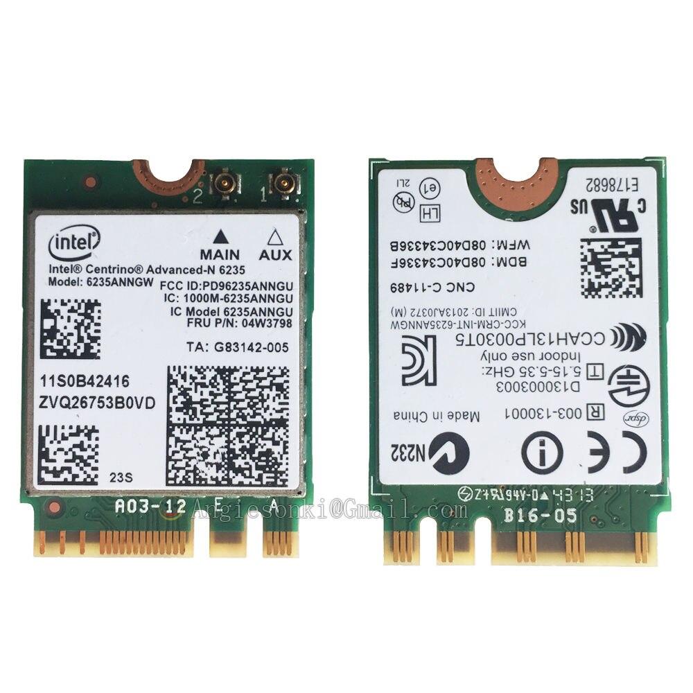 Nueva y original tarjeta WIFI 300mbps 6235ANNGW 6235 inalámbrica + BT 4,0 NGFF 04W3798 para Lenovo T431S T431SP X230S L440