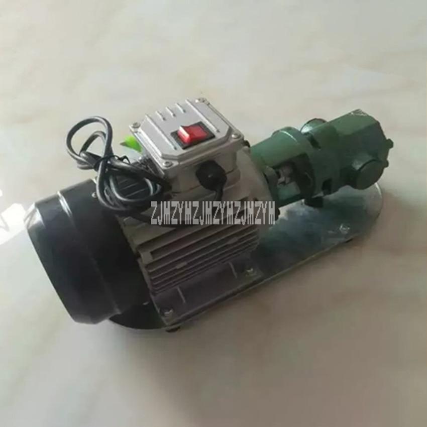 Bomba de aceite de engranaje autocebante WCB-75, bomba de engranajes eléctrica de alta temperatura de hierro fundido portátil, bomba de aceite pequeña de 750W de alta viscosidad, 220V