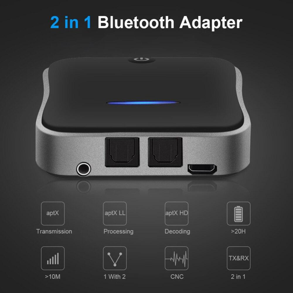 Adaptador de Audio inalámbrico Bluetooth 5,0 transmisor receptor CSR8675 tecnología APTX HD LE Audio BT música AUX Jack/SPDIF/RCA para PC TV Coche