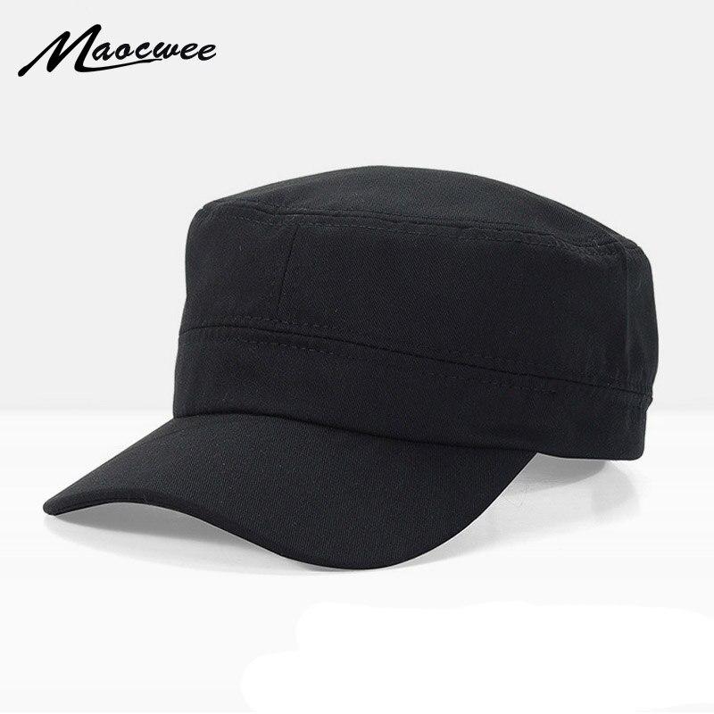 2018 Tactical Cap Army Hat  Unisex Flat Roof Trucker Hats For Men Women Snapback Bone Brand Gorroas Casquette Cheapu