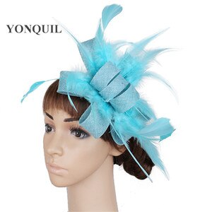 Imitation Sinamay Bridal Wedding Headwear Hoops New Hair Fascinators Accessories With Hair Combs Decor Women Prom Derby Chapeau