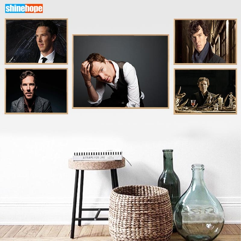 Benedict Cumberbatch Poster Custom Canvas Poster Art Home Decoration Cloth Fabric Wall Poster Print Silk Fabric 30X45cm,40X60cm
