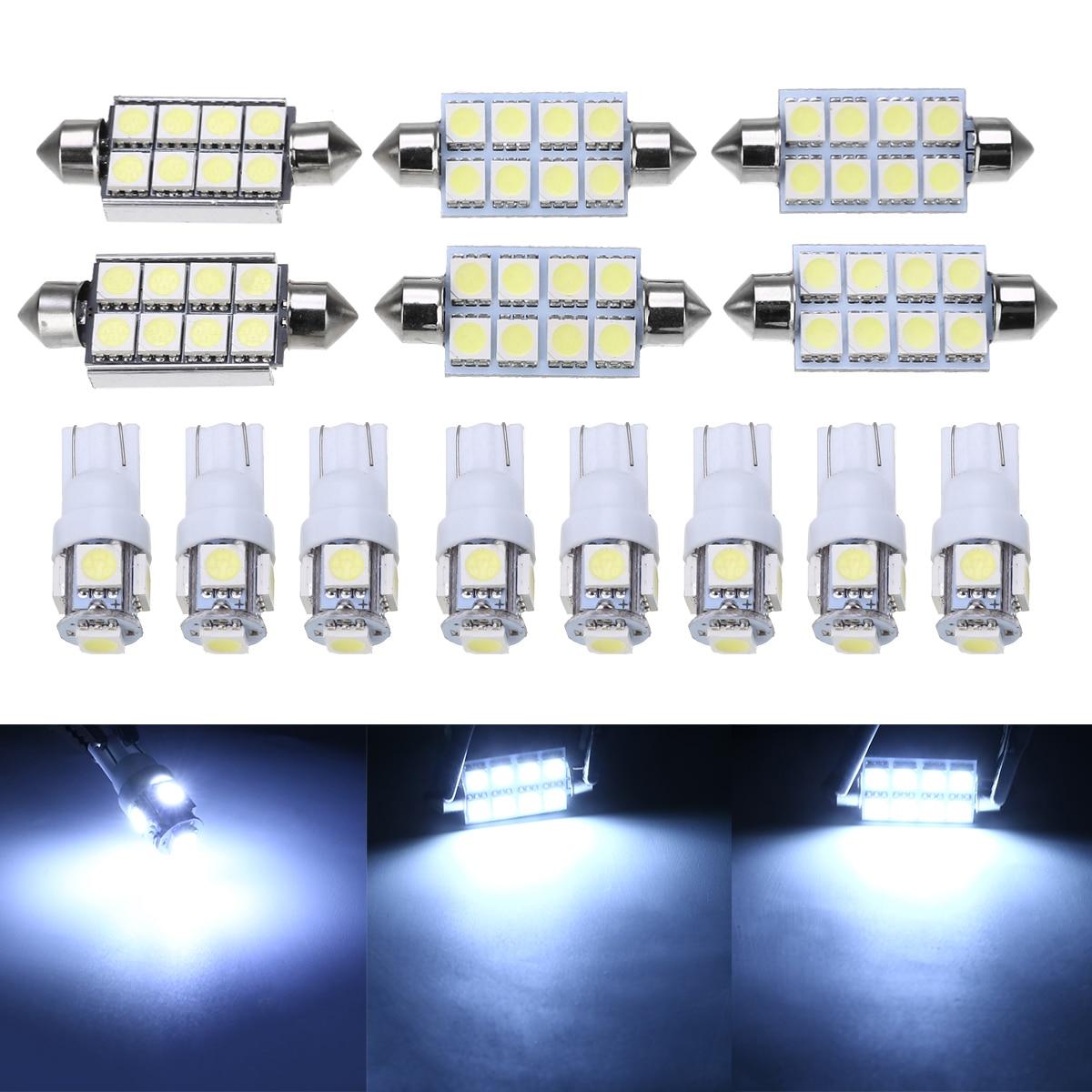 14pcs Car Interior Lamp Light White LED Interior Light Bulb Kit Set For Dodge Ram 1500 2500 2002-2011