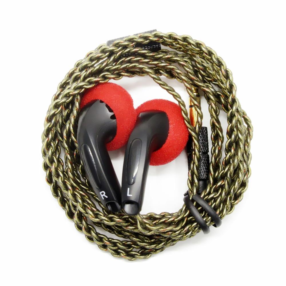 FENGRU DIY EMX500 In-ear Earphones Flat Head Plug DIY Earphone HiFi Bass Earbuds DJ Earbuds Heavy Ba
