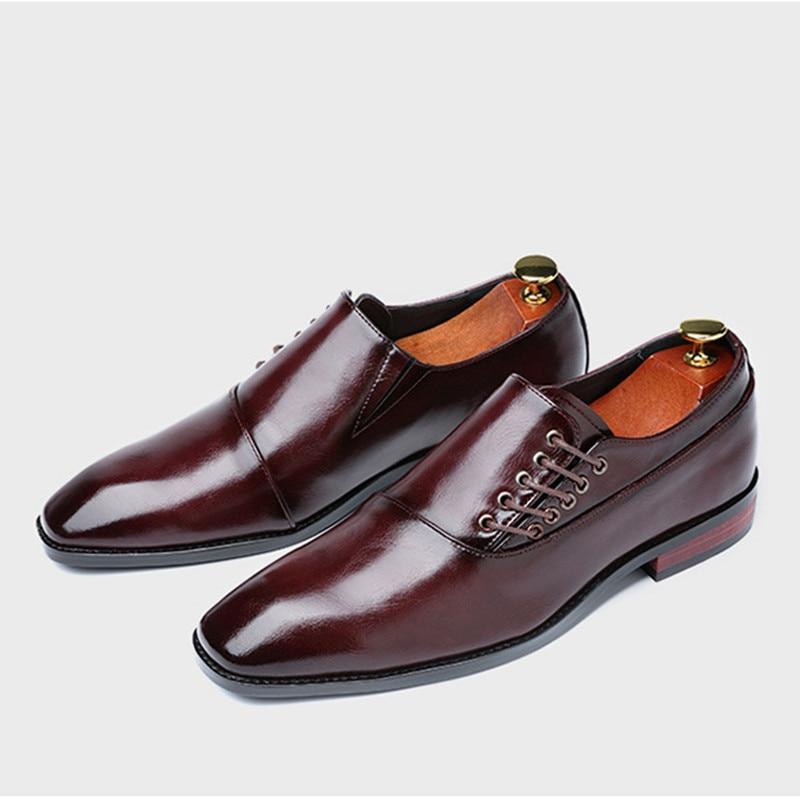 Zapatos de vestir Blucher Derby de encaje Retro de caballero para hombre para fiesta de boda de negocios tamaño de oficina 38 -48
