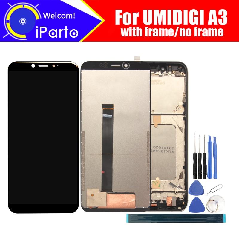 UMIDIGI A3 LCD شاشة 5.5 بوصة + مجموعة المحولات الرقمية لشاشة تعمل باللمس 100% أصلي جديد LCD + محول رقمي للعمل باللمس لـ A3 + أدوات