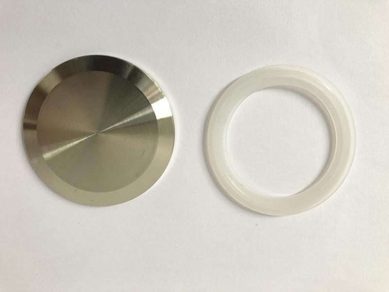 """Tapa sanitaria de 2 """"(51mm) compatible con junta de silicona, acero inoxidable SS304 de 2"""" OD64mm"""