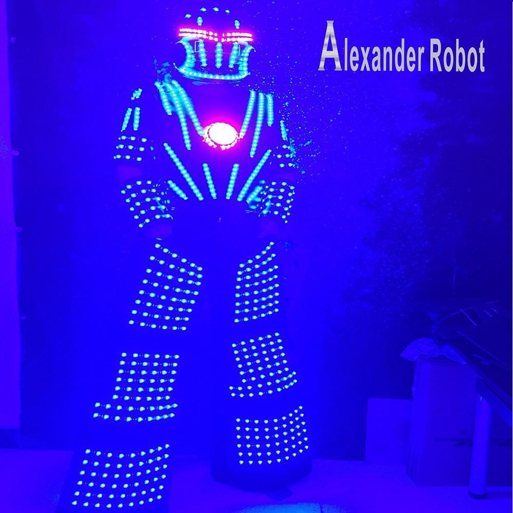 Robot Alexander/Costume de robot LED/costumes de vêtements LED/costumes de Robot LED