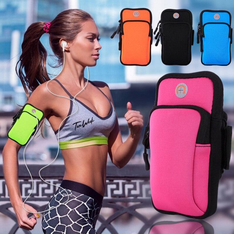 Para Motorola Droid Turbo XT1254 Universal bolsas de teléfono móvil soporte de deporte al aire libre funda para el brazo bolsa impermeable funda a mano