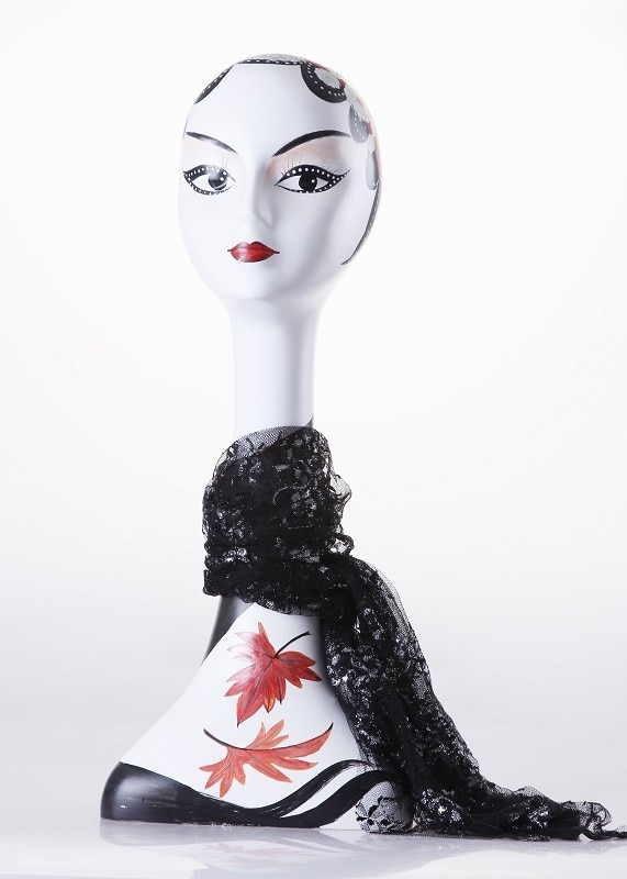 New Arrival!!Fiberglass Plus Size Antique Bronze Female Mannequin Dummy Head For Hat &Scarf Display