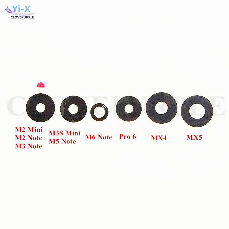10 unids/lote trasera Cámara de la lente de cristal para Meizu MX3 MX4 MX5 MX6 Pro Pro6 6 S M2 M3 M3s m5 Mini M2 M3 M5 M6 Nota de Metal E