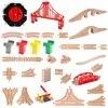 Plusieurs pièces composantes pour pistes de trains en bois de hêtre accessoire compatible avec Thomas Biro et toutes marques de trains jouet piste de course