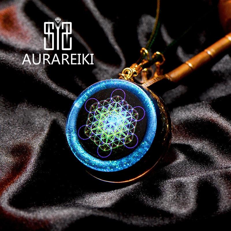 Elite Organ Energy Pendant Metatrons Cube Reiki Energy Consciousness Promote Autonomy Test Transport EMF Crystal Pendant