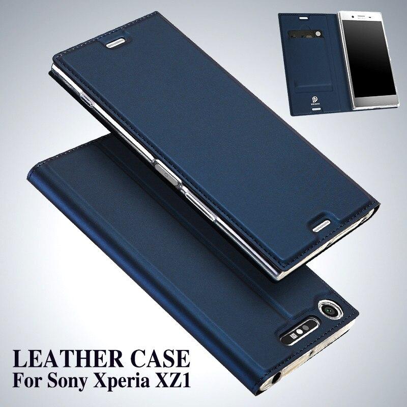 DUX DUCIS XZ1 Funda Virar Luxo Fique Capa De Couro para Sony Xperia Telefone Titular do Cartão Carteira Capa para Sony XZ1 caso Coque Hoesje
