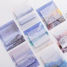 1 pçs novo cenário criativo tour bloco de notas notas notas pegajosas bloco de notas papelaria papelaria escritório escola suprimentos