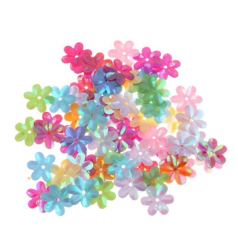 Пайетки перфорированные с цветами 30 г|Блестки| |