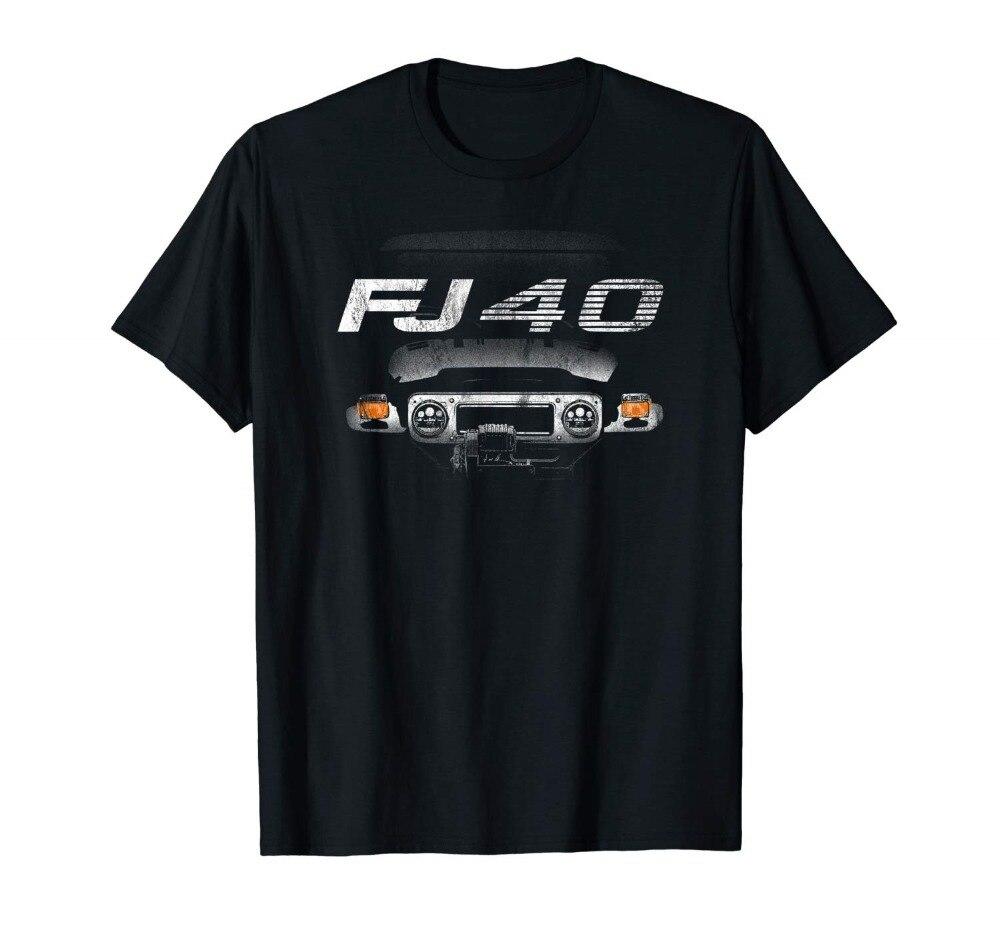 Fj40 Land Cruiser T-Shirt Bj40 Off Road Modische 2019 Sommer Casual Hipster Fractal Muster Tees Brief Gedruckt T-shirt