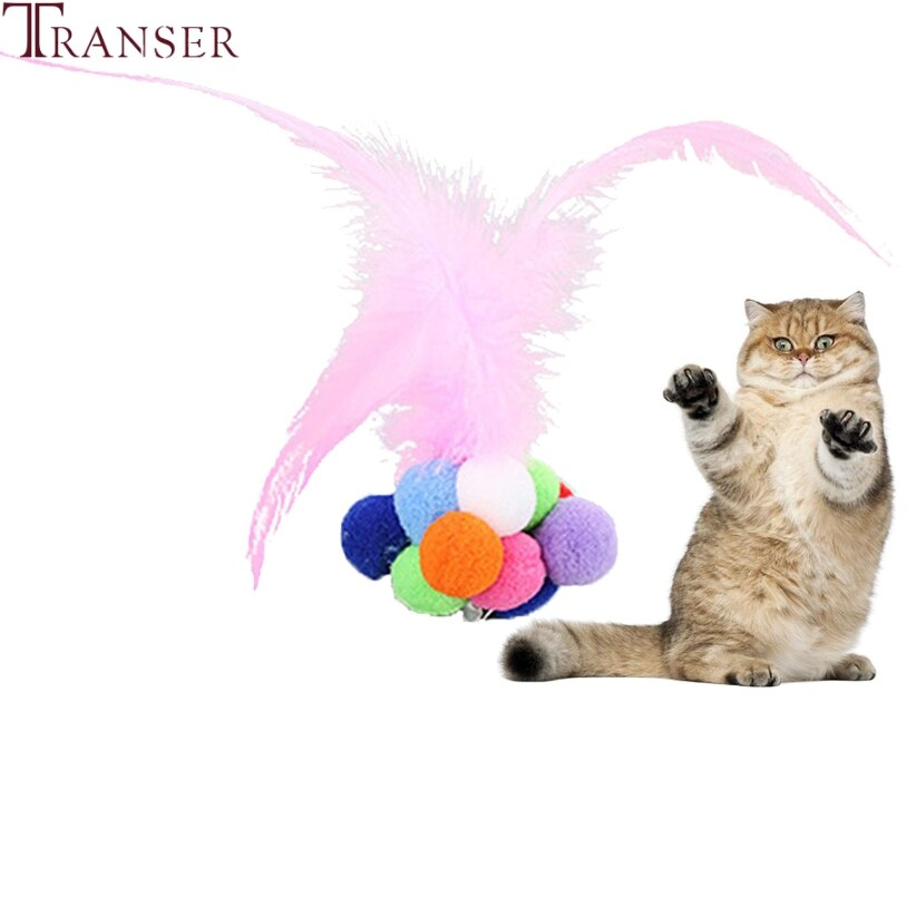 ¡Envío directo! Juguete para gatos, pelota hinchable de colores, pelotas con plumas para gatos, juguetes interactivos con gatitos Catnip integrados, juguetes con campanillas 80913
