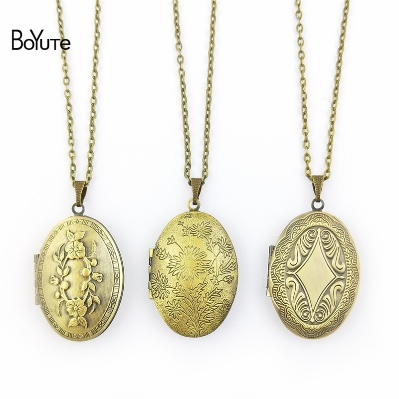 aliexpress.com - BoYuTe Retail 1 Piece 70CM Chain 23*38MM Oval Floating Photo Locket Necklace Pendant Open Necklace