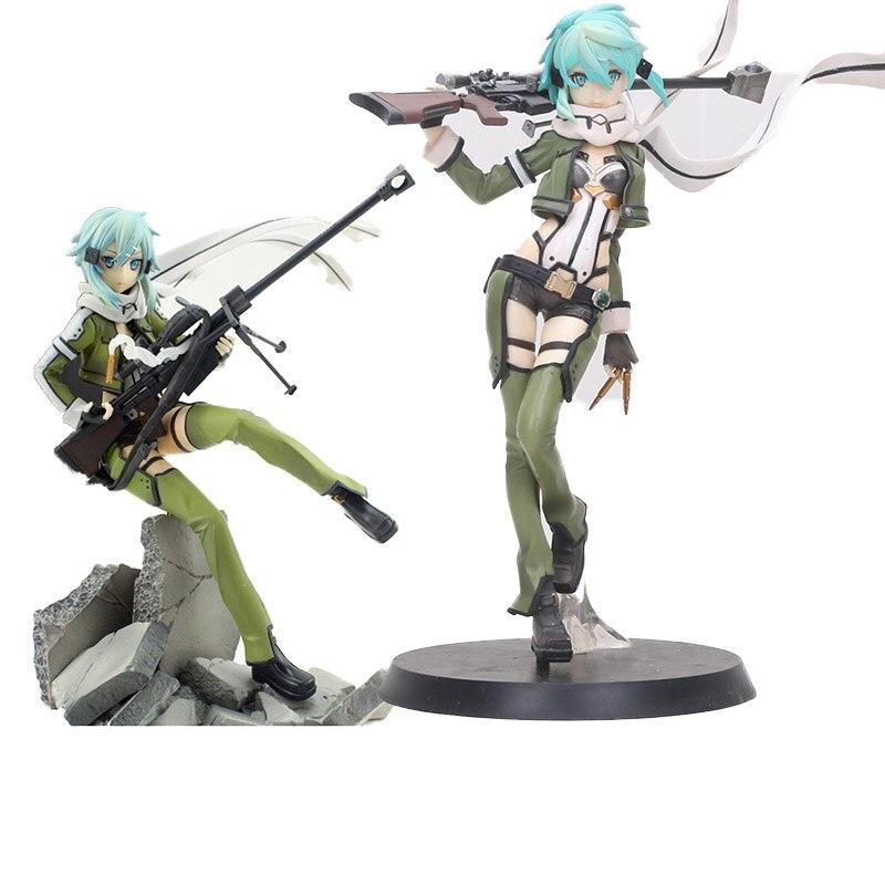 Figura de Anime Sword Art Online II figura 3 Gun Gale Online GGO Asada Shino figura de Sinon juguetes PVC figura de acción coleccionable juguete