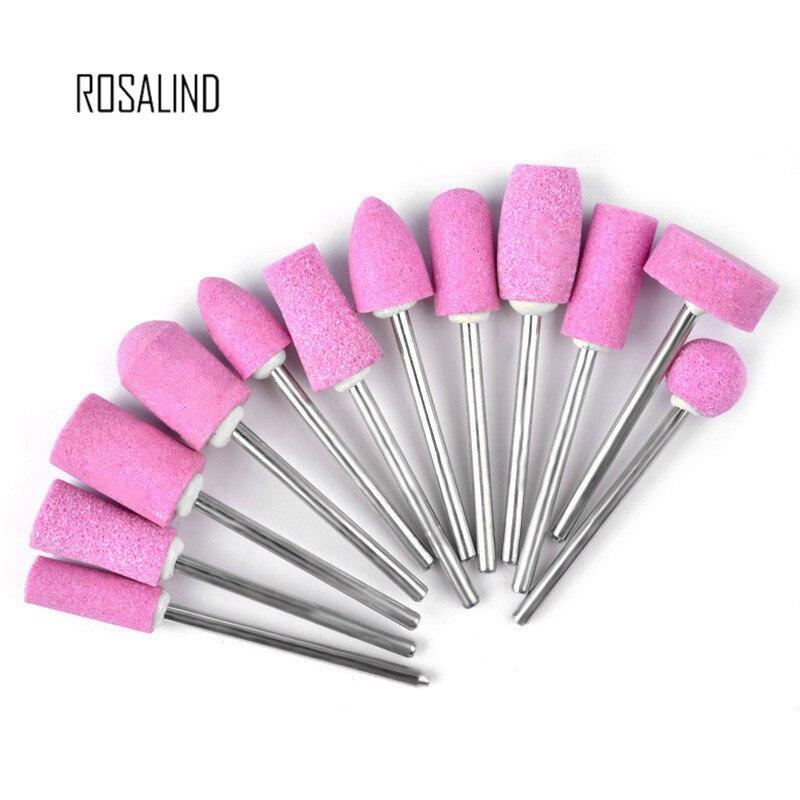 Розовая цилиндрическая Корундовая шлифовальная насадка для полировки, сменные насадки для маникюра и ногтей, 1 шт.
