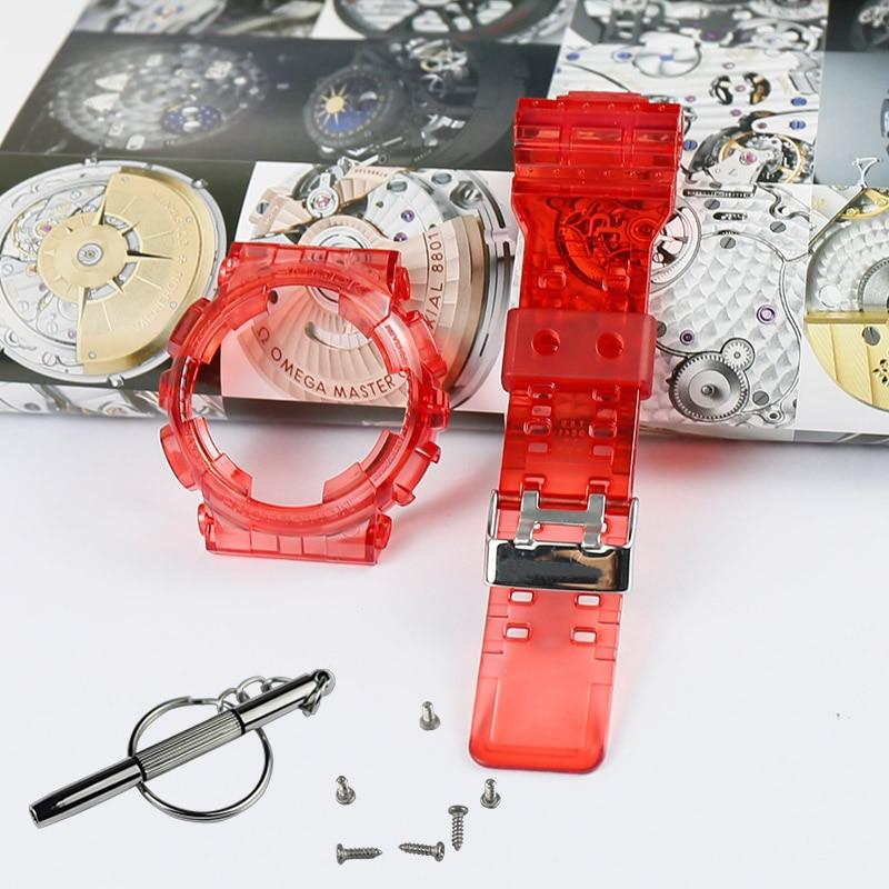 Купить с кэшбэком Men's Resin Strap Case Watch Accessories for CASIO G-SHOCK GD120 GA100 GA110 GD110 Sports Waterproof Strap Women watch band