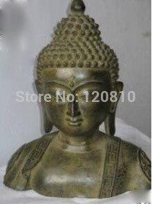 Exquisito estatua de bronce ANTIGUO Buda Collectibles 31 CM por EMS
