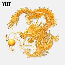YJZT 14.7CM*15.5CM Colored Chinese Wind Dragon Graphic Car Sticker Decoration PVC 5-1088