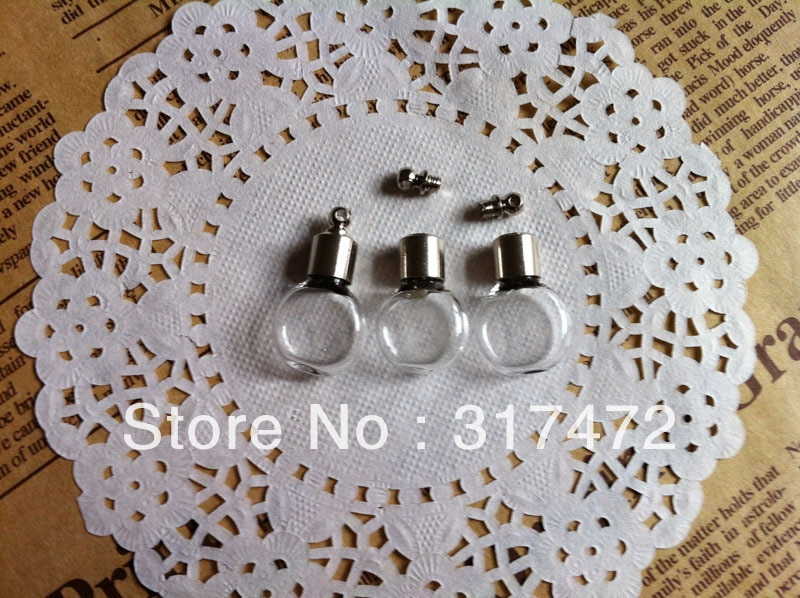 NEW 50pcs many stytle Vial Pendant Miniature Bottle Rice Art Tube Scew Cap