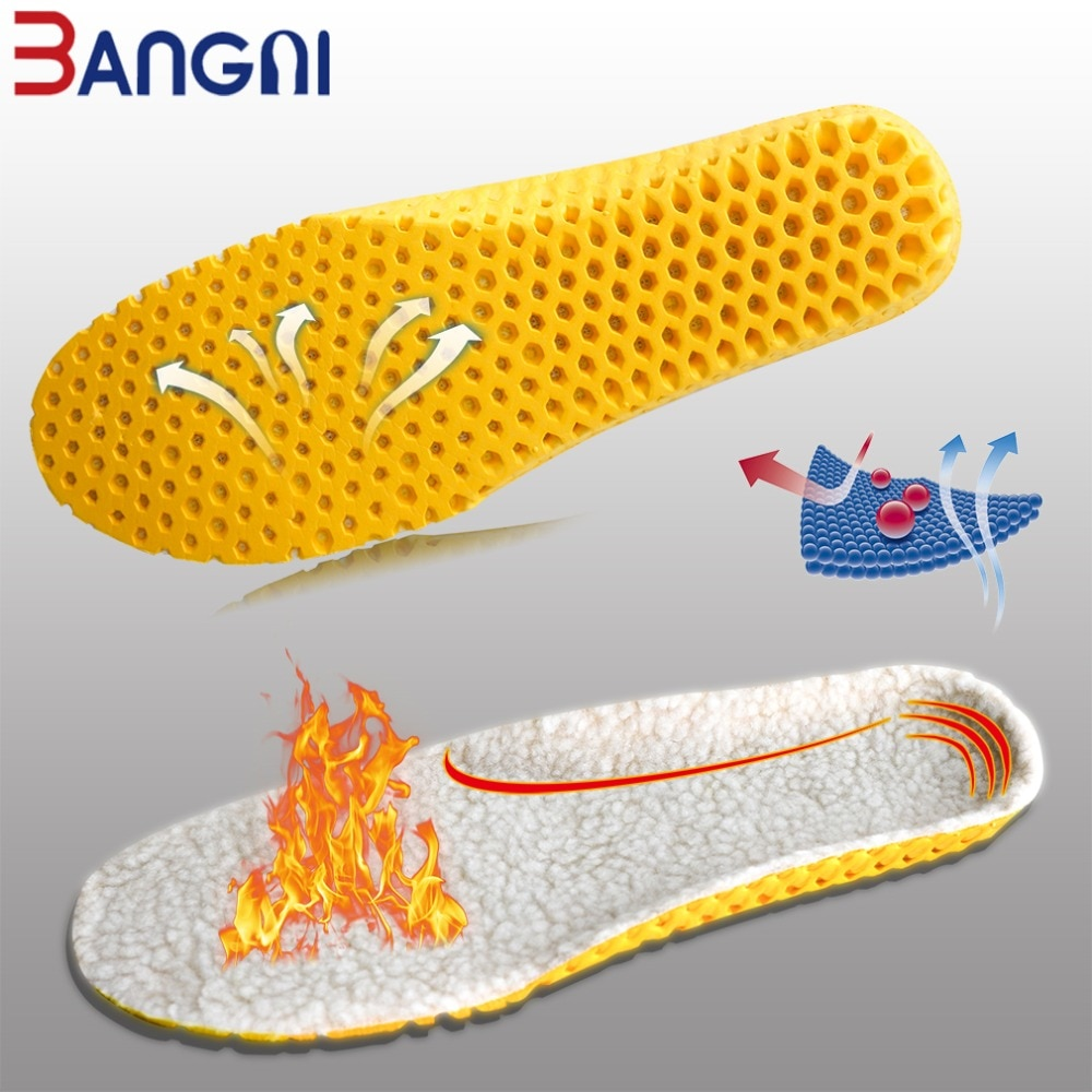 3ANGNI Keep Warm Heated Insole Cashmere Thermal Insoles Thicken Soft Breathable Winter Sport Shoes For Man Woman Boots Pad Sole