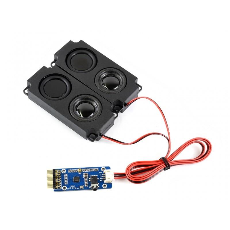Wm8960 módulo de áudio codec estéreo, reprodução/registro, suporta efeitos sonoros-estéreo, 3d ao redor. onboard porta de alto-falante de canal duplo
