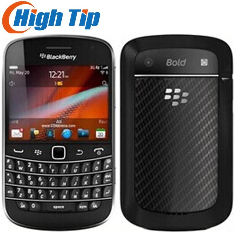 Desbloqueado Original BlackBerry 9900 Bold Touch teléfono móvil INTERNO 8GB memoria 3G 5MP Cámara reacondicionado Smartphone
