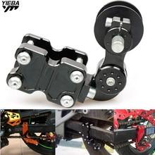 Rueda tensora Universal de cadena de ajuste de aluminio para motocicleta SUZUKI RM85 RM125/250 RM125 KAWASAKI KDX250SR KFX450R 08-10
