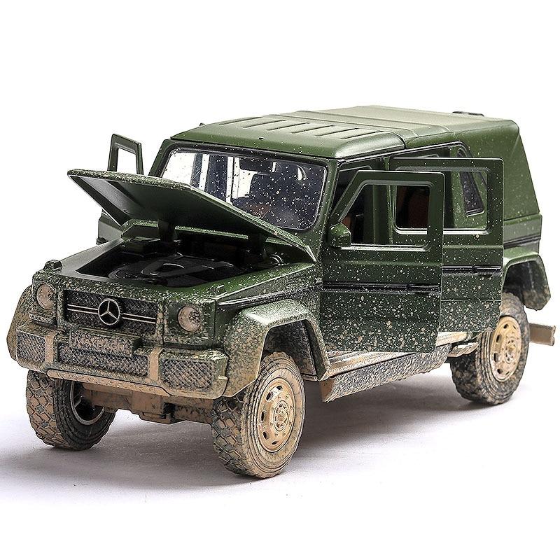 (En caja) Mercedes-Benz G650, coche en miniatura de aleación, todoterreno de clase G, suv para hacer la versión antigua del modelo de coche