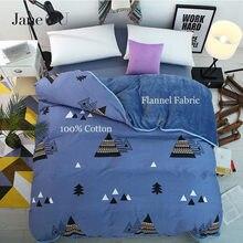 JaneYU 100% bawełna + flanelowe wielofunkcyjne AB obie strony teraz zima 24 kolory kołdra okładka śpiwory poszwa na kołdrę w rozmiarze King