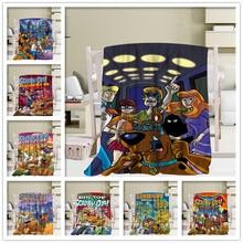 Couverture de couchage sur couvre-lit   Personnalisable, Scooby Doo, couvre-lit de canapé, couverture de lit pour voyage, couverture chaude