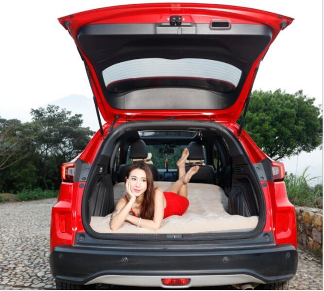 Colchón inflable de coche, cubierta de asiento de cama de viaje, cubierta Universal para respaldo, colchón, ropa de cama suave para exteriores, accesorios de coche con bomba de aire