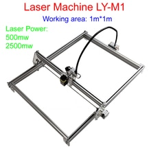 1m * 1m zone de travail machine dimpression laser LY-M1 machine de marquage laser 500mw/2500mw taxe gratuite à RU