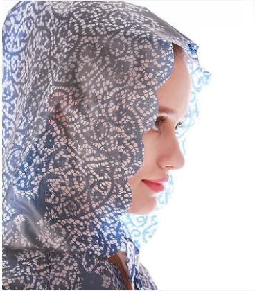 Gran venta Europa EVA encaje Mujer gabardina larga impermeable abrigo capa impermeable...