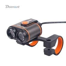 Deemount lampa przednia do roweru 8.4V światło przednie do roweru podwójne żetony 400 lumenów opcjonalnie #18650 generator 8.4V 5.0V wyjście oświetlenie rowerowe